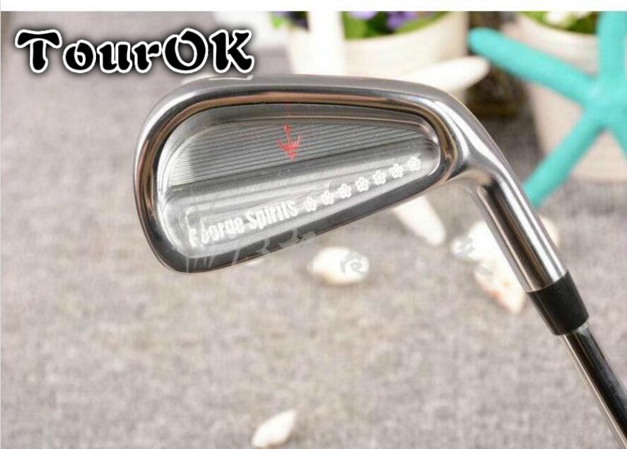 TourOK hommes Golf Clubs Golf fers ensemble 4-9. Fers clubs avec arbre de Golf en acier