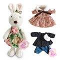 Kawaii Кролик плюшевые куклы со сменной одеждой мягкие игрушки животные для детей девочек детские игрушки подарки на новый год
