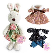 Kawaii Bunny Rabbit Plush Dolls with Change Clothes Stuffed Animal Soft Toys for Children Girls Kids Toys Gifts for the New Year