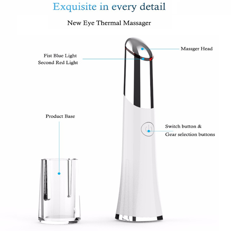 Image 5 - Electric Vibration Eye Massager Eyes Care Device Dark Circle Removal Machine Puffiness Removal 2 In 1Beauty Mini Eye Massage Pen-in Face Skin Care Tools from Beauty & Health