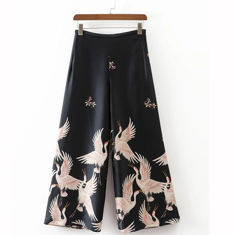 2 Piece Set Women Streetwear 2019 Summer New Fashion Printing Short Sleeve Tops Elastic Waist Ankle-Length Pants Women Set