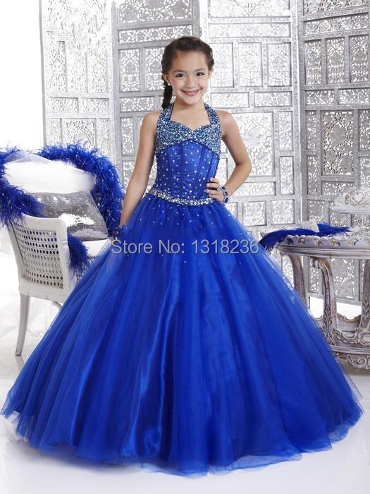 Robe de princesse bleu marine