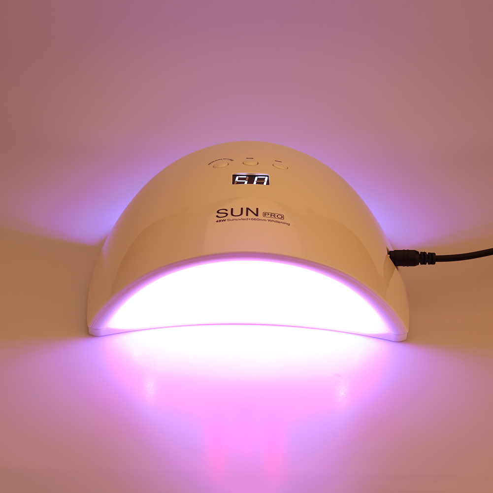 48W LED Nail Dryer Curing Lamp Machine Art Beauty Tool for UV Gel Nail Polish sun5 gel nail dryer 48w led uv dryer lamp fit curing all nail polish machine for curing nail gel art tool new arrival home use