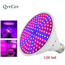 126 200 led Plant Grow light lamp E27 growing bulb for indoor plants Flower vegetable seeds Growth Hydroponic Green House Garden(China)
