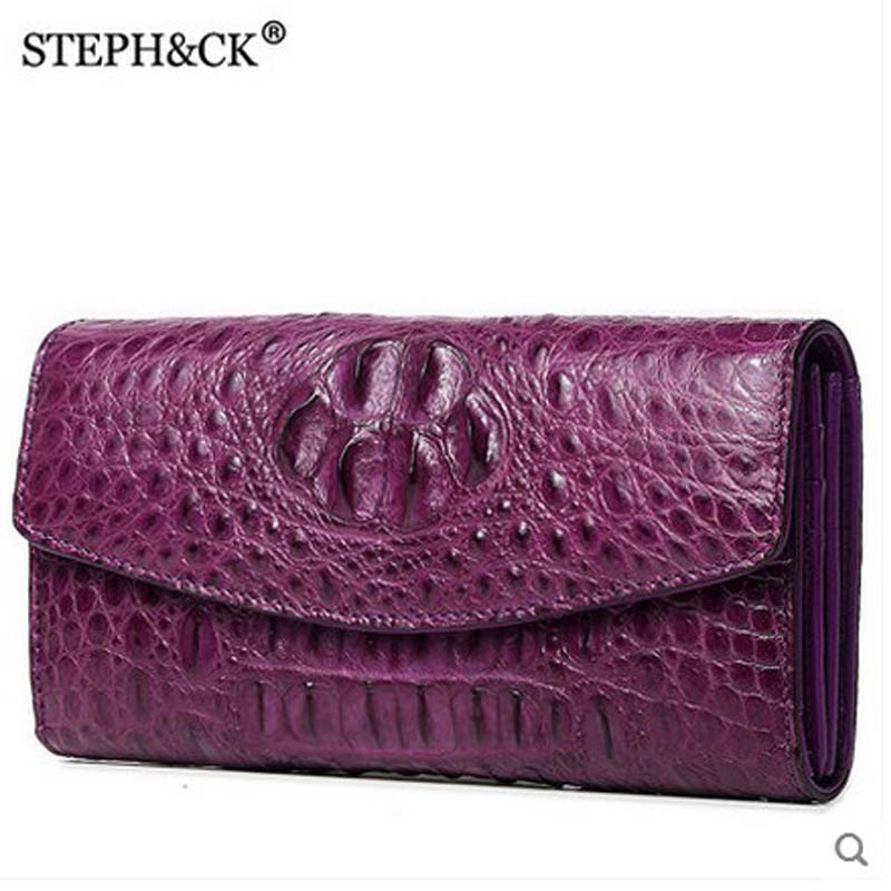 shidifenni crocodile clutch women bag ladies real crocodile leather wome bag business casual hand grab bag big capacity girl bag