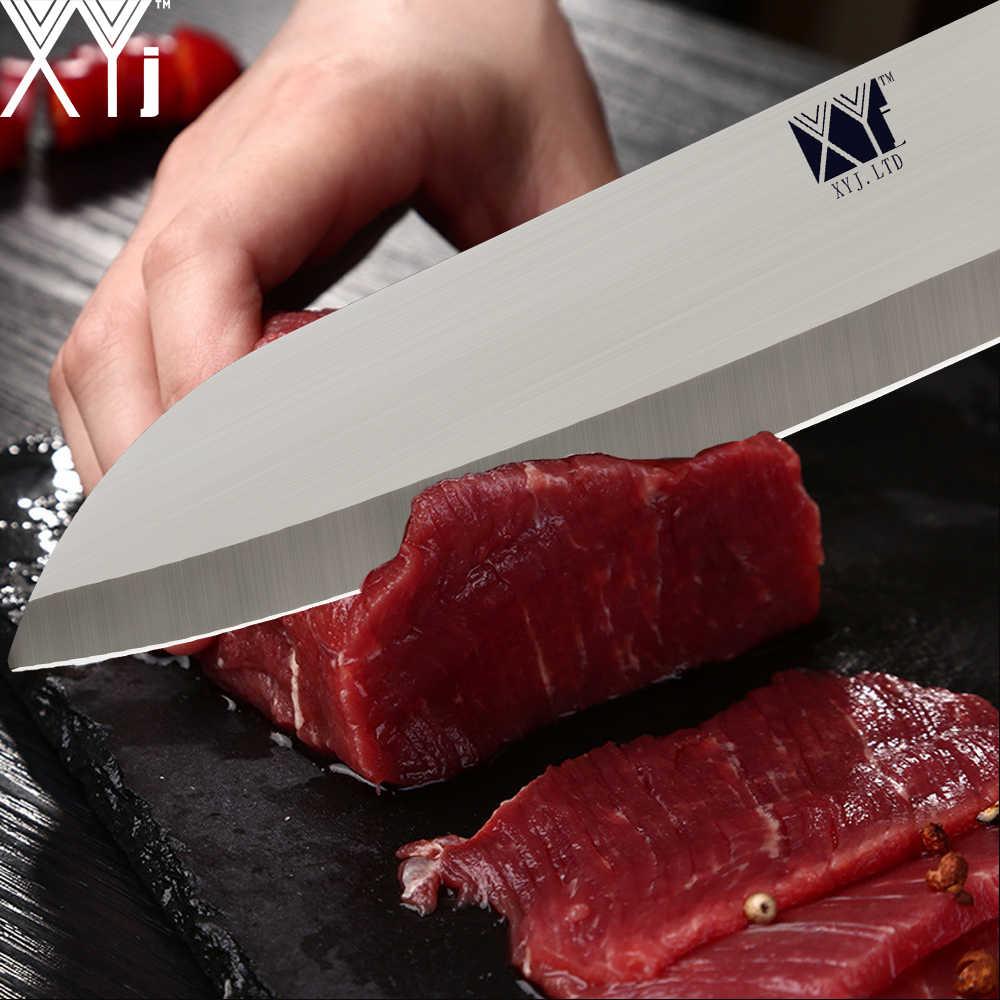 XYj Edelstahl Sashimi Küche Messer Set Santoku Kochmesser Japanischen Lachs Sushi Petty Raw Fisch Filetieren Nakiri Messer