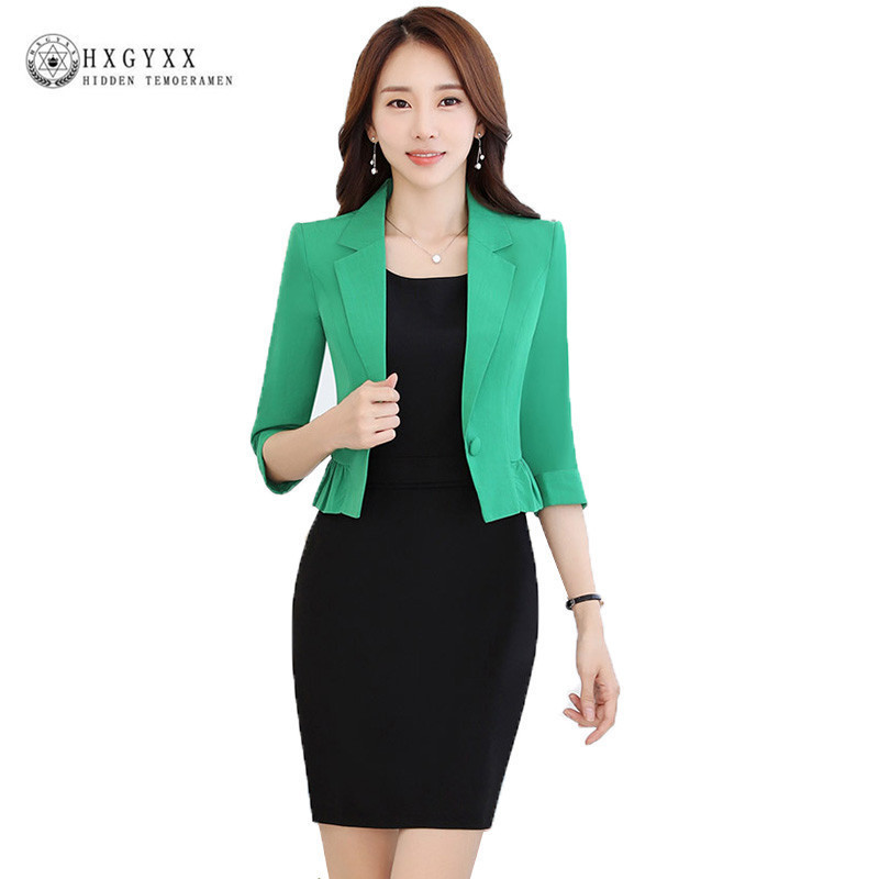 Spring Fashion Women Slim Blazer Casaco Feminino Coat Female Jackets Office Ladies Suit 2019 Casual Solid Short Outerwear Okb861(China)