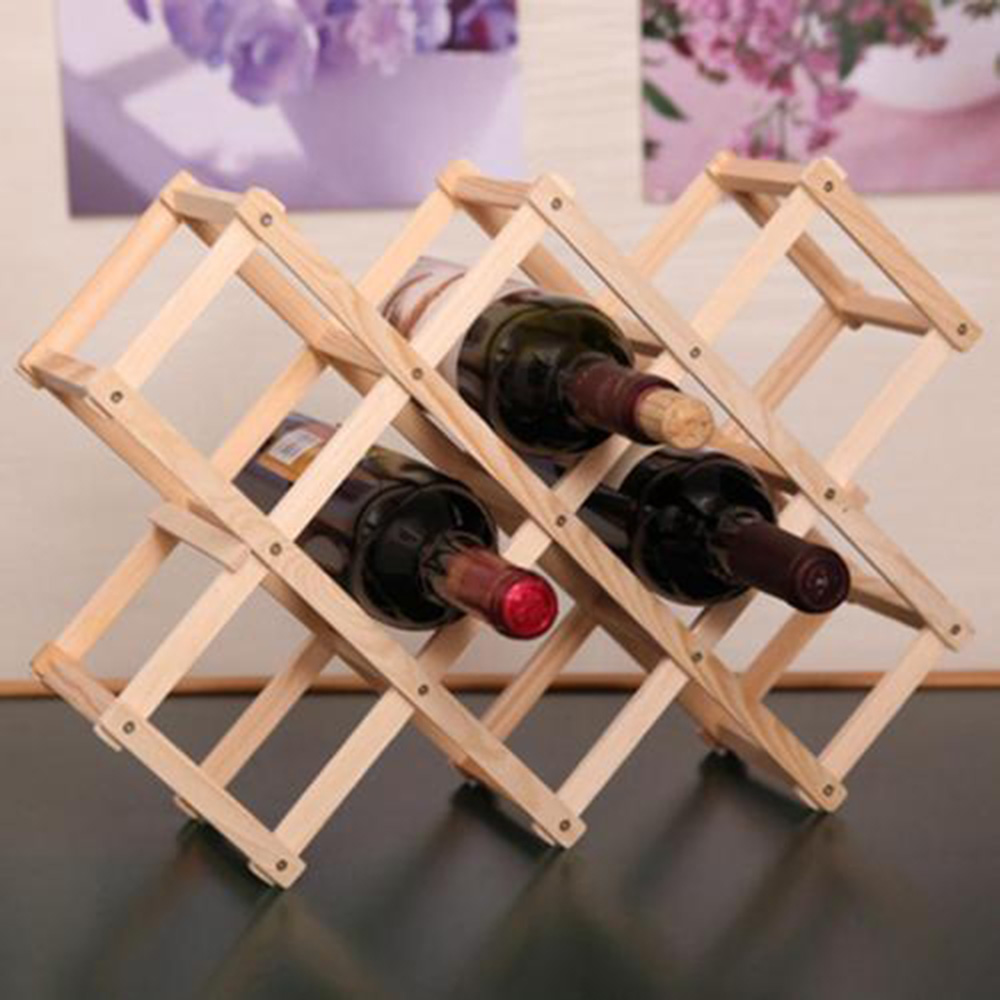 Wooden Bottle Rack Wooden Red Wine Rack 3 6 10 Bottle Holder Mount Bar Display Shelf Folding Wood Wine Rack Alcohol Neer Care Drink Bottle Holders In Wine Racks From