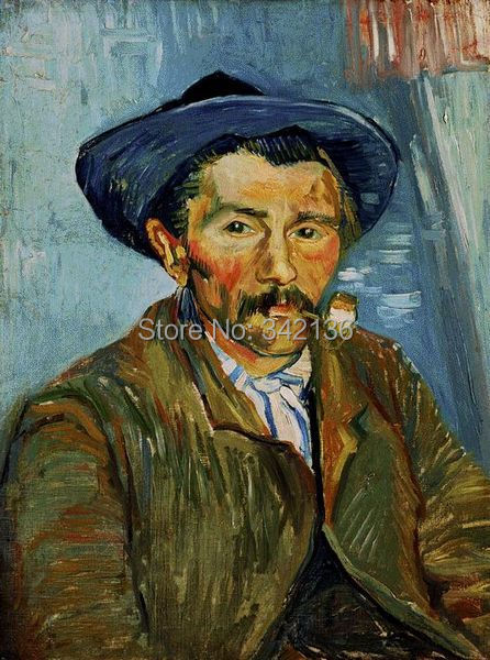 The Smoker (Peasant) Van Gogh hand made oil painting wall hanging painting pictures art work for living room No FrameThe Smoker (Peasant) Van Gogh hand made oil painting wall hanging painting pictures art work for living room No Frame