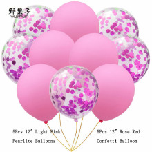 10pcs confetti Baloons Latex Helium Baloon Multi Color Balloon Combinations happy birthday party decorations air wedding ballon