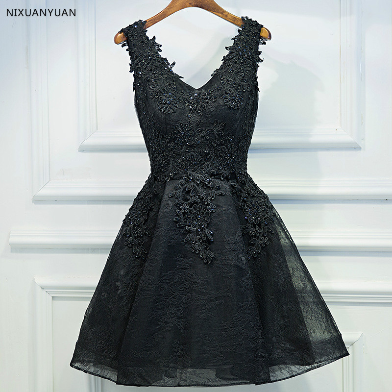 Short   Prom     Dresses   2019 Sexy Backless Lace Up Black   Prom   Gown Formal   Dress   Women Occasion Party   Dresses   Robe De Soiree