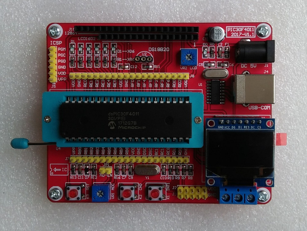 DsPIC 30F4011 Development Board/dsPIC Experimental Board/System Board/