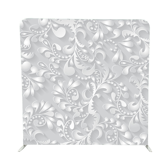 3d White Flower Pillow Cover Background With Structure For Wedding