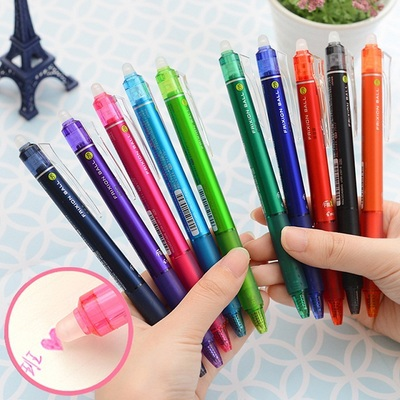 3pcs/Lot Creative Stationery Unisex Pens 0.5mm Erasable Color Pen Set Office & School Gel Pens For Writing 2pcs lot baile pilot lkfb 60ef three color multifunctional erasable pen 0 5mm