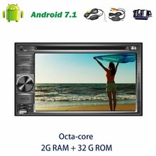Wireless camera+Octa-core computer car radio Stereo in Dash 6.2 Autoradio Android 7.1 GPS Navigation support Bluetooth FM AM RDS
