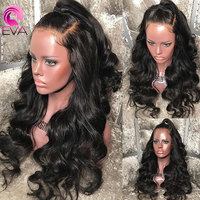 Eva Hair 360 Lace Frontal Wig Pre Plucked With Baby Hair Brazilian Body Wave Lace Front Human Hair Wigs Bleached Knots Remy Hair