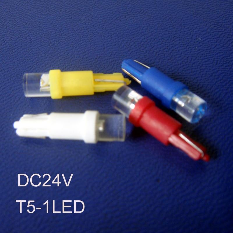High quality T5 24V led dashboard warning indicator,auto T5 led indicator lights,24V led T5 Pilot lamps free shipping 200pcs/lot