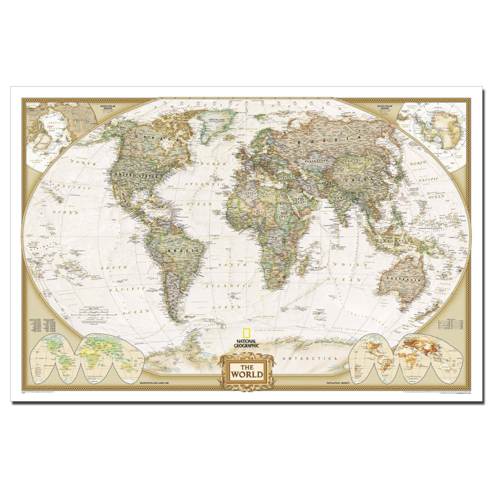 World Map Print Fabric.The World Map Art Poster Canvas Cloth Fabric Print For Home Decor