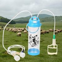 3L Double Head Manual Impulse Milk Milking Machine Portable Sheep Goat Milker 110V 240V 0.8 Gal Vacuum Pump Us Plug