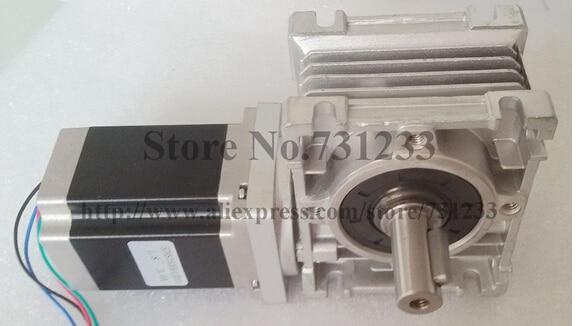 2pcs/lot NEMA 23 Worm Gearbox Stepper Motor CE ROHS Motor Length 56mm 153oz-in Nema23 Worm Reducer Gear Stepper Motor 57 slowdown stepper motor motor length 56