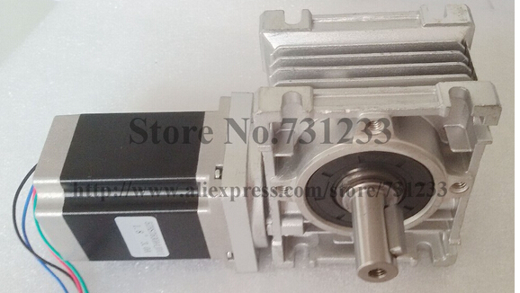 NEMA 23 Worm Gearbox Stepper Motor 7.5:1-80:1 CE ROHS Motor Length 56mm 153oz-in Nema23 Worm Reducer Gear Stepper Motor a stepper motor nema 17 out 0 3nm install with a worm reducer make up a stepper motor deceleration gearbox