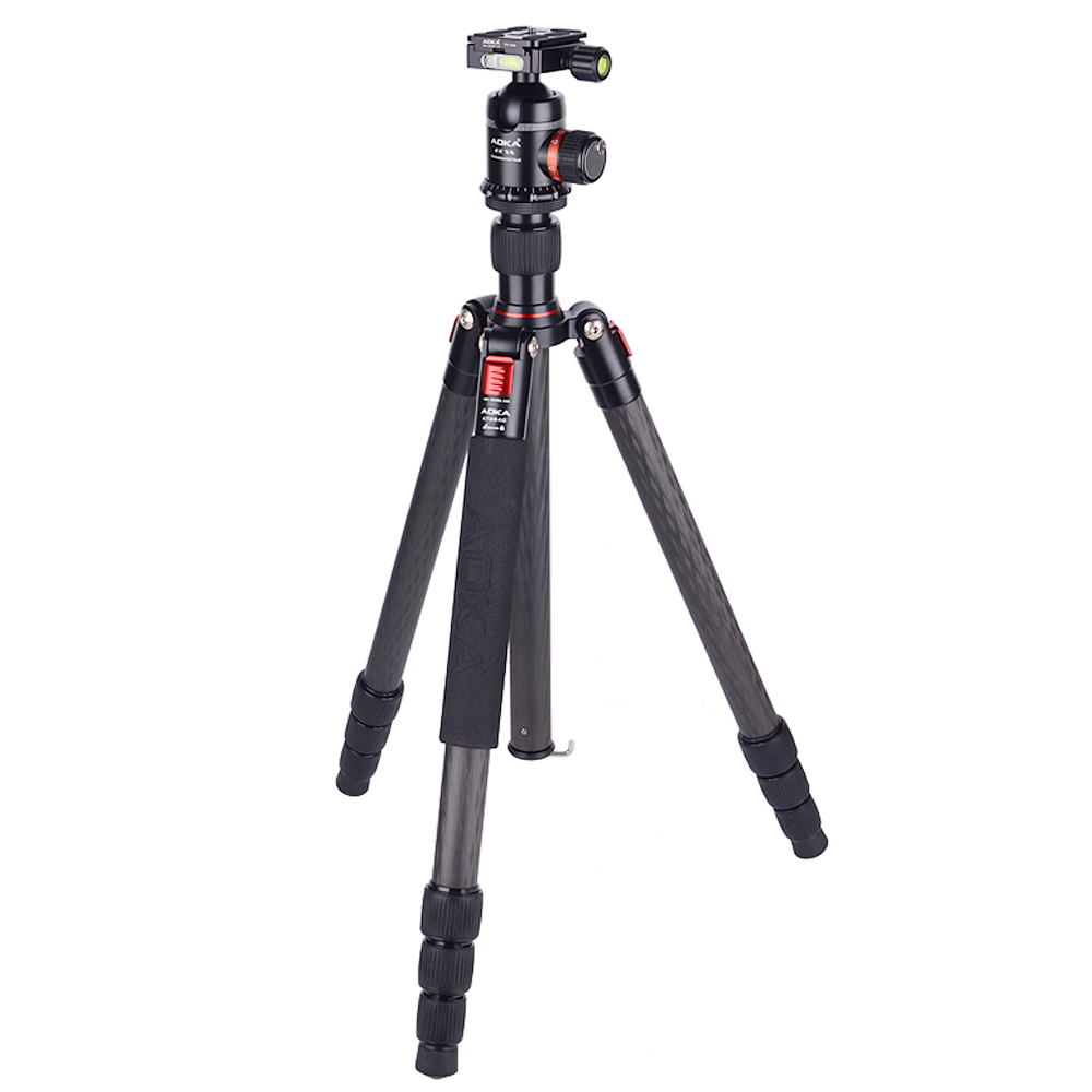 AOKA camera tripod KT284C carbon fiber portable big loading to 16kgs with tripod head штатив bidexpress 1 15 camera tripod 04