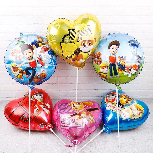 20pcs Paw Patrol dog foil balloons 18inch paw patrol Birthday party decorations kids toys ballon Chase Marshall helium globos
