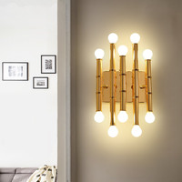 Minimalist copper brass wall light lamp LED bedside toilet bathroom reading wall light LED sconce modern simple gold wall light