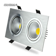 Hot sale Dimmable 20W Double LED Hight light COB Ceiling downlight Recessed Cabinet Lamp AC110V /AC220VFree Shipping