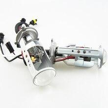 Горячая распродажа H4 мини объектив проектора LHD 45 Вт 6000 К быстрый яркий привет-ло легкая установка биксенон лампы H4 для автомобильных фар изменение