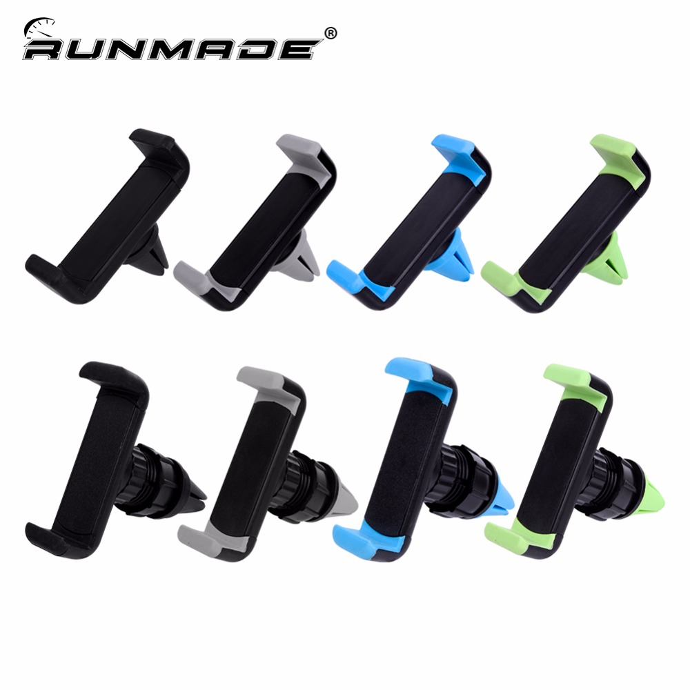 runmade Universal 360 Degree Rotating Car Mount Ventilation Clip Air Vent Mount Mobile Phone Stand Holder Car Phone Stand sx 005 360 degree rotating vehicle general magnetic phone mount holder