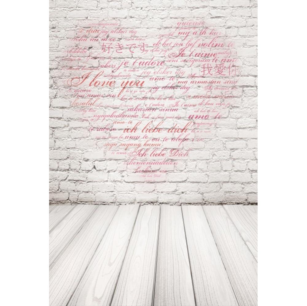 Laeacco фото фонов серый кирпичная стена День Святого Валентина Любовь Сердце деревянная доска фотографии фоны фотосессия Фотостудия