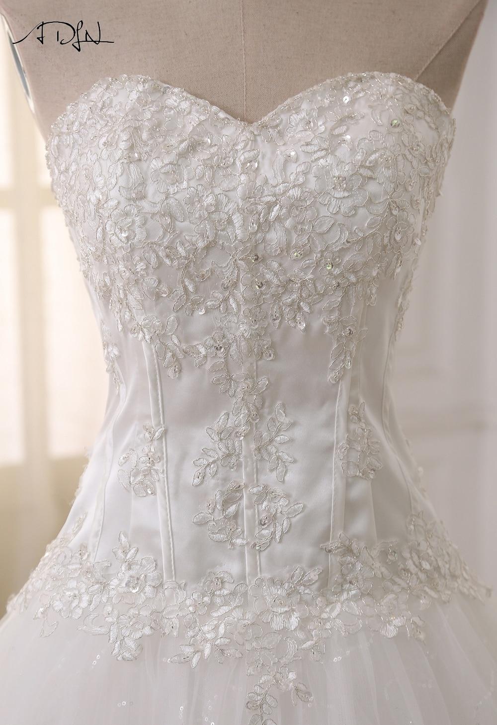 ADLN Wedding Dresses Vestidos de Novia Off the Shoulder Sweetheart Tulle Long Bride Dress Lace Up Back Plus Size In Stock 8