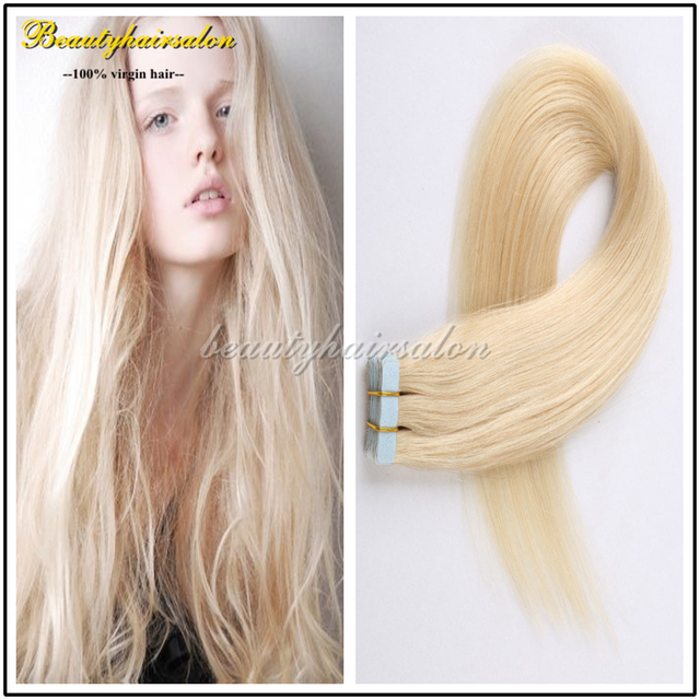 Dhl Free 120pcspack Tape Hair Extension Straight Invisible Pu Skin