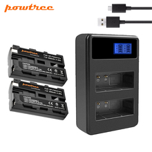 Powtree 2Pcs For Sony NP-F550 7.2V 3000mAh Rechargeable Battery+LCD Dual Charger Replacement NP-F570 NPF550 CCD-TRV58 DCR-TRV31 стоимость