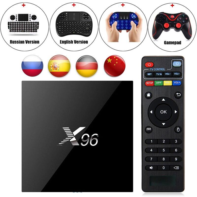 X96 Android 6.0 TV Box Amlogic S905X Max 2 gb RAM 16 gb ROM Quad Core WIFI HDMI 4 karat * 2 karat HD Smart Set-Top-BOX Media Player T3 Gamepad