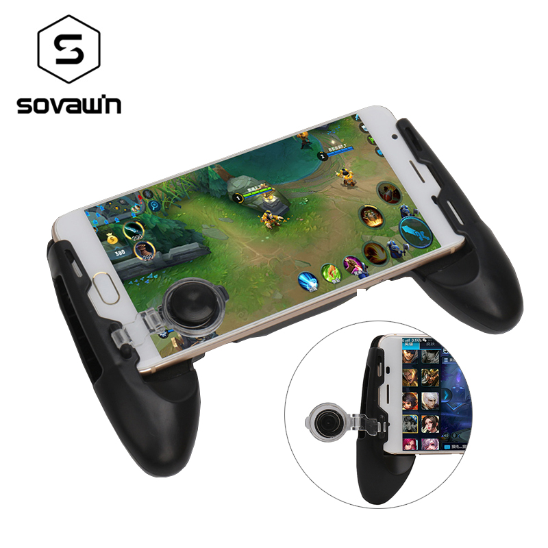 Mobile PUGB Controller Rotation Touch Screen Controle Para Celular Gamepad Joystick for Android Game Pad with Smartphone Stand