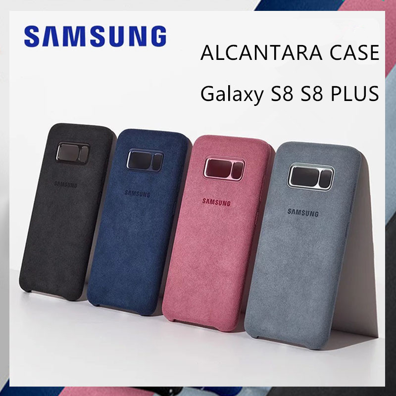 new product 06f9c b20ca Original Genuine Samsung Galaxy S8 S8+ S8 Plus Cover Leather Alcantara Case  SM-G9550 G9500 Shockproof Ultra-Thin