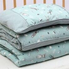 120X150 см хлопковое утяжеленное тепловое детское пуховое одеяло со вставкой для новорожденных, стеганое одеяло, детское стеганое одеяло с рисунком животных из мультфильмов, Детский Комплект постельного белья