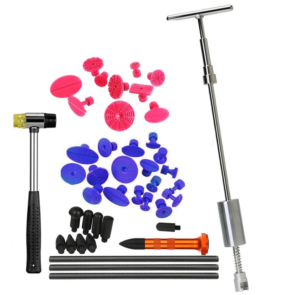 купить Dent Puller Kit WithGrip PRO Slide Hammer Dent Removal Pulling Tabs Hot Melt Glue Gun Pro Glue Sticks for Paintless Dent Repair по цене 1899.72 рублей