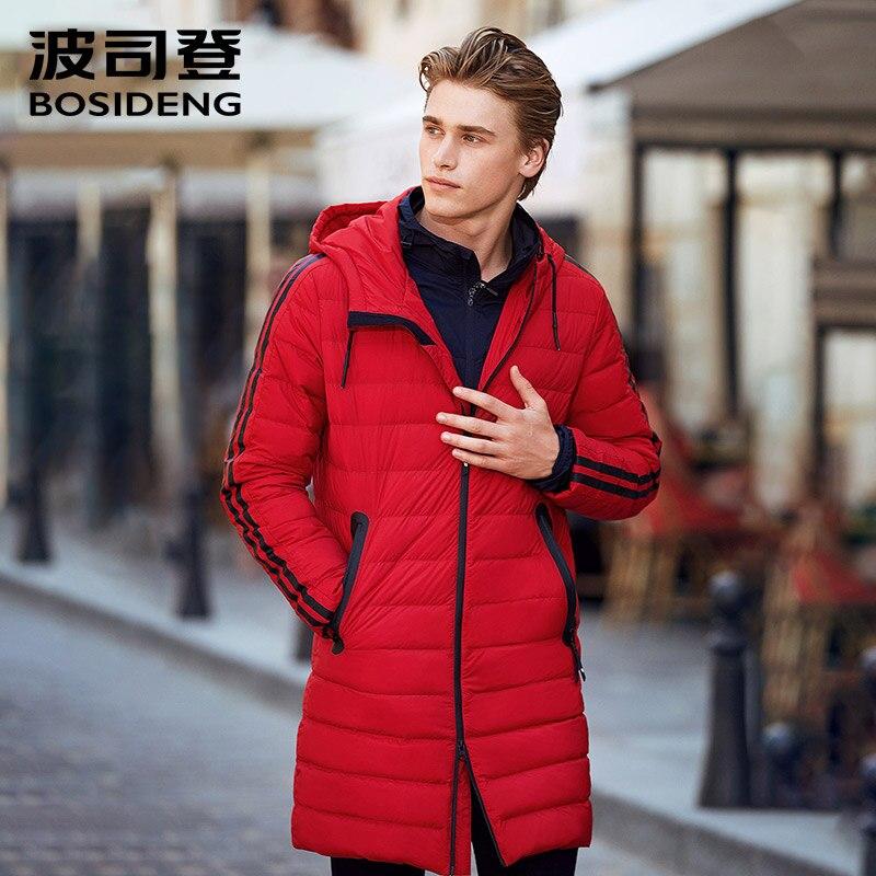 BOSIDENG 90% Duck Down Jacket Long Down Coat For Men Winter Sports Outwear Light Parka High Quality B70132003