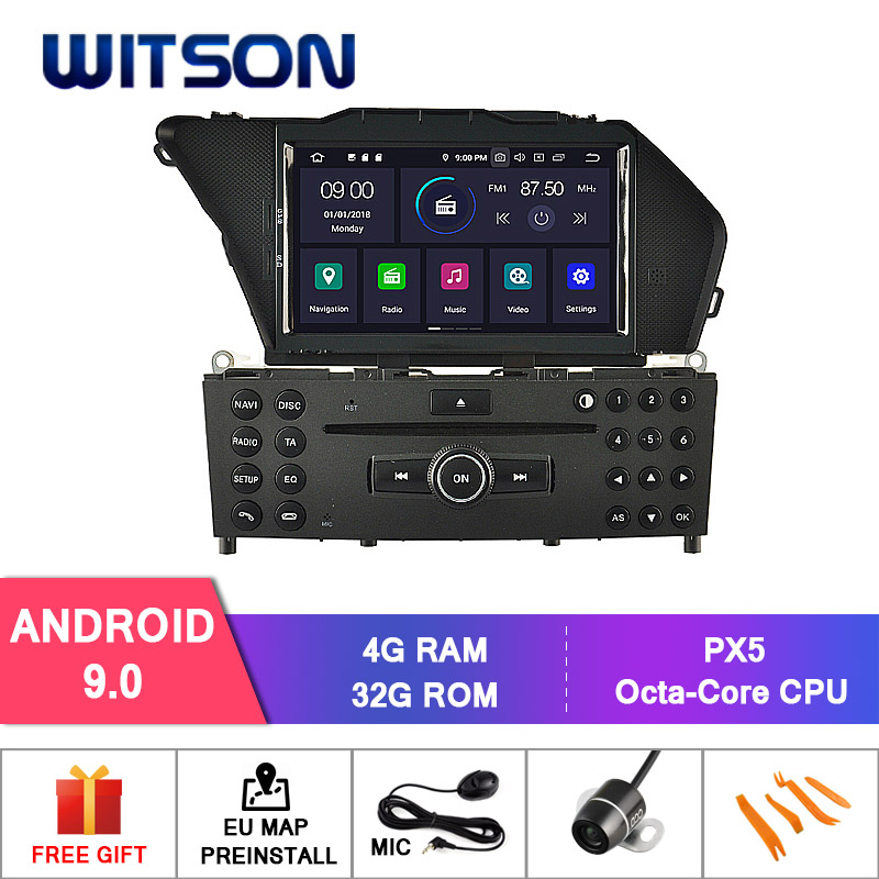 WITSON Android 9 0 Octa core Eight core 4G RAM CAR DVD PLAYER GPS FOR MERCEDES