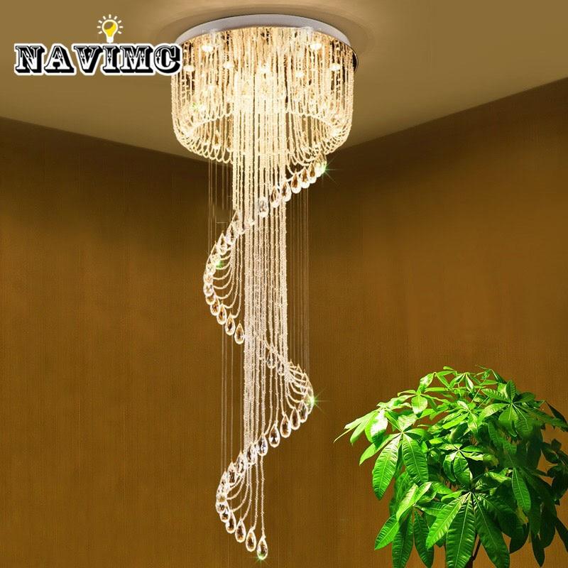 Modern led Crystal Chandelier Ceiling Lmap for Living Room Bedroom Staircase Large Luxury Hotel Lighting 110-240v