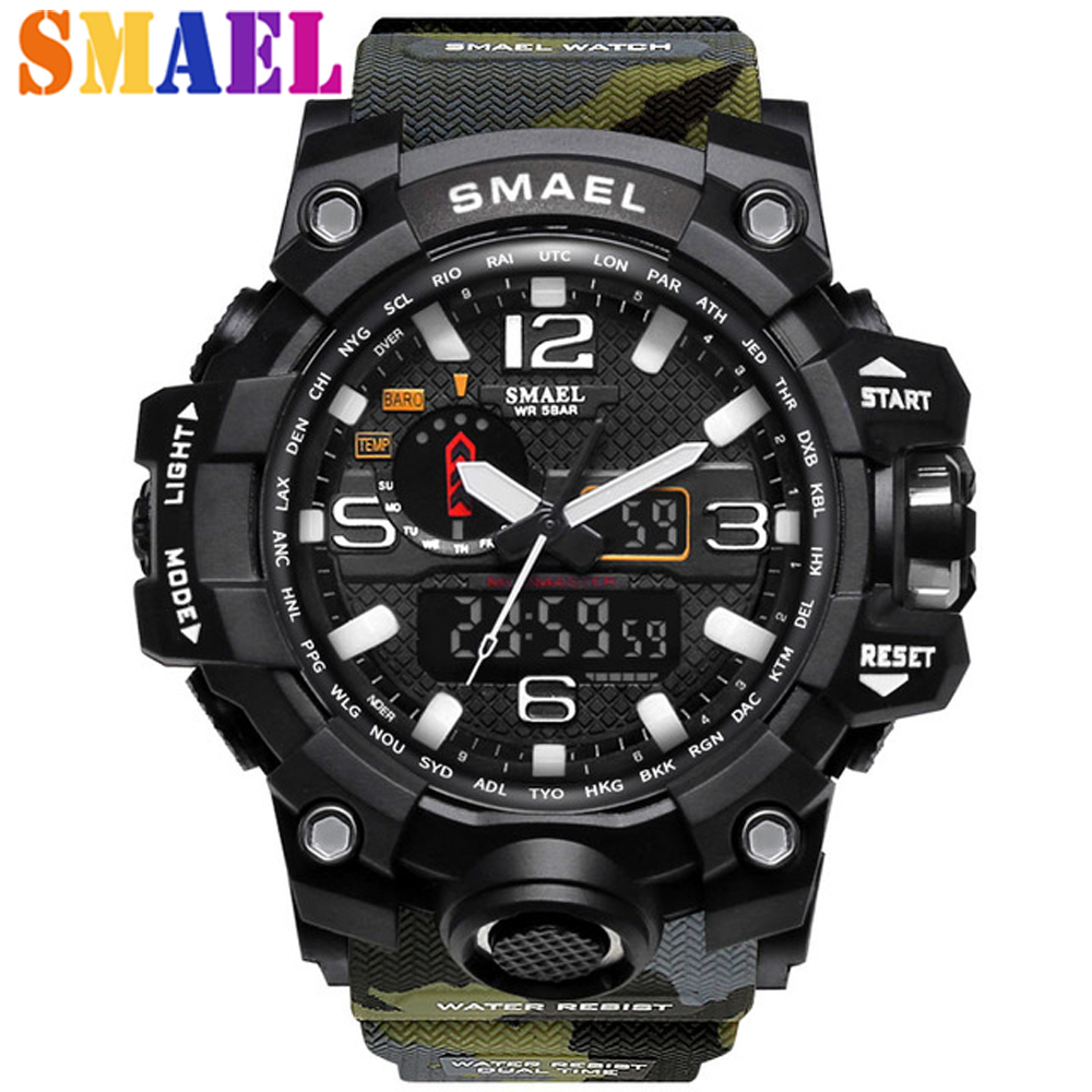 Top Luxury Brand Fashion Men Sport Watches Men's Quartz LED Analog Clock Man Military Waterproof Wrist Watch relogio masculino splendid brand new boys girls students time clock electronic digital lcd wrist sport watch