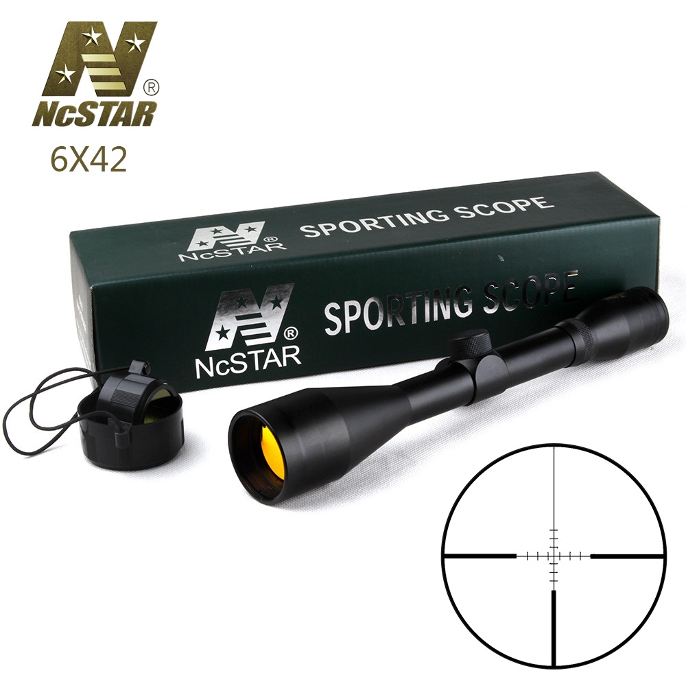 Tactical Rifle Scope 6X42 P4 Sniper Full Size Fixed Magnification 6X Hunting Optical Sight Ruby Coating sniper white version of the sniper 6 24x50aol traffic light mil dot sight optical cross earthquake sniper scope