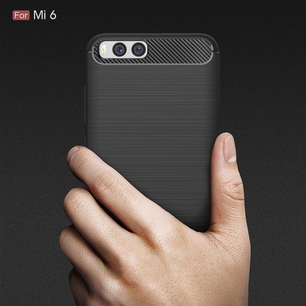 Xiaomi mi6 mi 6 arxa örtük üçün orijinal Carbon Fiber Soft TPU - Cib telefonu aksesuarları və hissələri - Fotoqrafiya 1