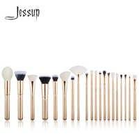 Pincel de Jessup 20 piezas dorado/Rosa brochas de maquillaje conjunto de herramientas de belleza brocha de maquillaje base de maquillaje de labios