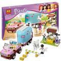 217 unids 2016 bela 10161 amigos heartlake emmas caballo remolque robin bloques de construcción niñas juguetes compatibles con lego