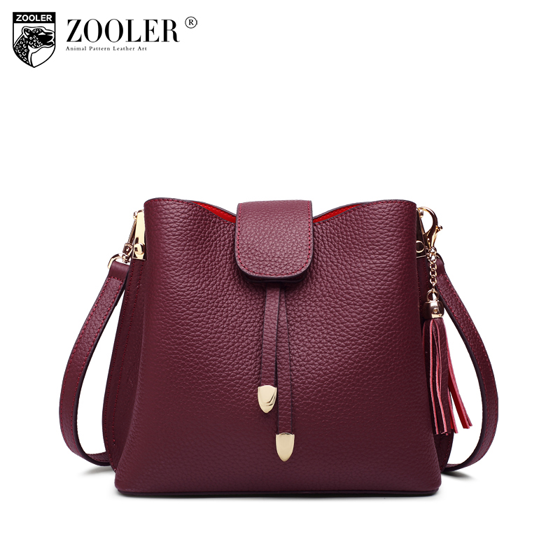 ZOOLER genuine leather bag luxury handbags women bags designer shoulder bag hot 2018 new fashion stylish totes #c123 100% genuine leather women bags luxury serpentine real leather women handbag new fashion messenger shoulder bag female totes 3