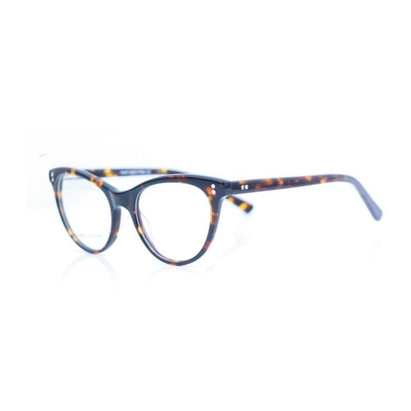 BCLEAR Vintage cat eye women glasses frame female acetate glasses full frame round optical frame myopia presbyopia spring hinges